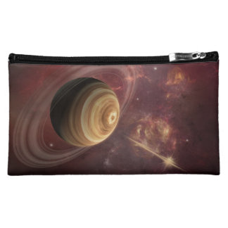 Planet, stars and Sun in Galaxy Fantasy Art Cosmetic Bags