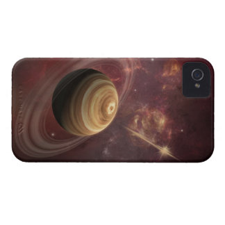 Planet, stars and Sun in Galaxy Fantasy Art Case-Mate iPhone 4 Cases