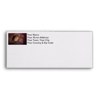 Planet stars and Sun in Galaxy Fantasy Art Envelopes