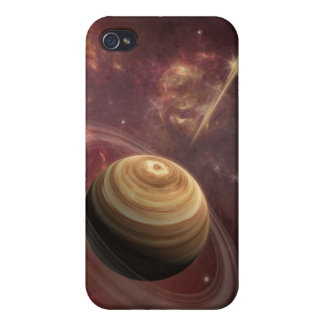 Planet, stars and Sun in Galaxy Fantasy Art iPhone 4/4S Cases