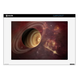 """Planet, stars and Sun in Galaxy Fantasy Art Skins For 15"""" Laptops"""