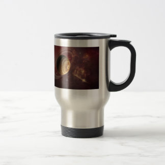 Planet, stars and Sun in Galaxy Fantasy Art Travel Mug