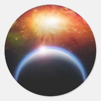 Planet  Starscape Classic Round Sticker
