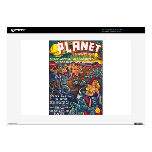 """planet stories 15"""" laptop decal"""