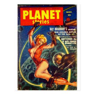 planet stories art postcard