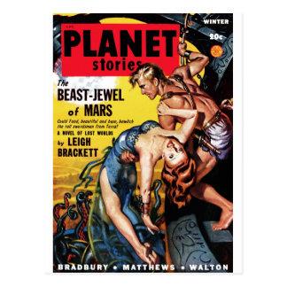 Planet Stories - Beast-Jewel of Mars Postcard