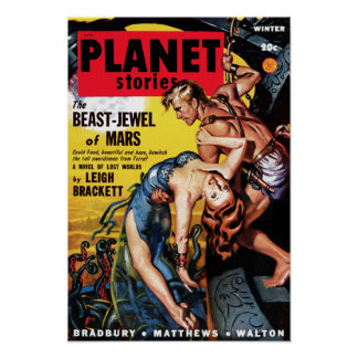 Planet Stories - Beast-Jewel of Mars Poster