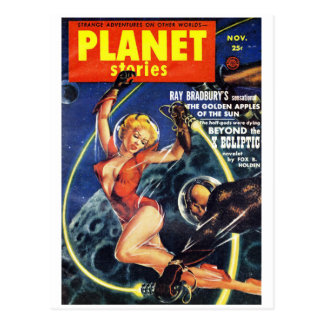 Planet Stories - Beyond the X Ecliptic Postcard