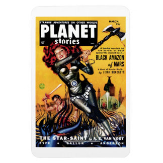 Planet Stories - Black Amazon of Mars Magnet