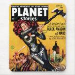 Planet Stories - Black Amazon of Mars Mousepad