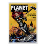 Planet Stories - Black Amazon of Mars Poster