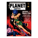 Planet Stories - Captives of the Thieve-Star Greeting Card