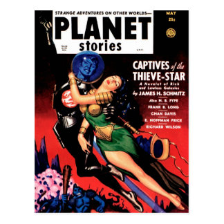 Planet Stories - Captives of the Thieve-Star Postcard
