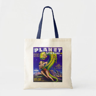 PLANET STORIES CLASSIC SCI FI PULP TOTE BAG
