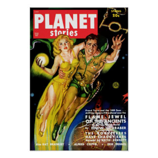 Planet Stories - Flame Jewel of the Ancients Poster