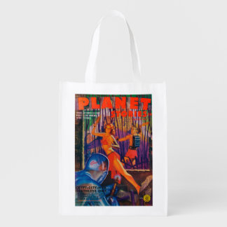 Planet Stories Magazine Cover 3 Reusable Grocery Bag
