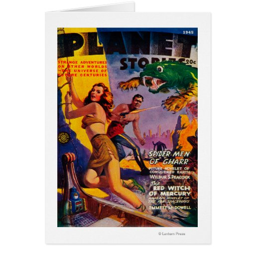 Planet Stories Magazine Cover 5 Greeting Card