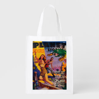 Planet Stories Magazine Cover 5 Grocery Bag