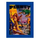 Planet Stories Magazine Cover 5 Postcard