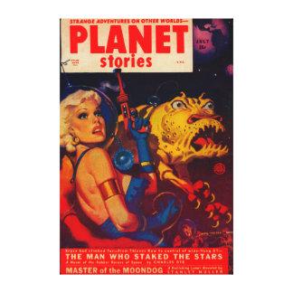 Planet Stories Magazine Cover Canvas Print