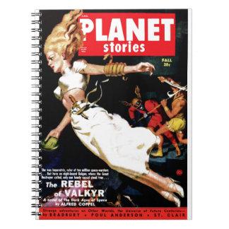 Planet Stories - Rebel of Valkyr Notebook