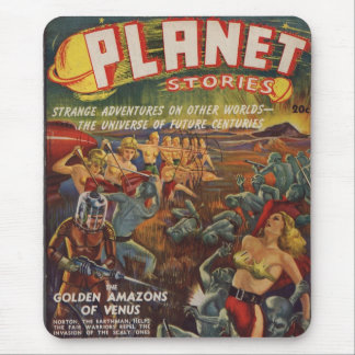 Planet Stories SF Pulp 1st Issue Mouse Pad