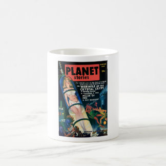 PLANET STORIES-VINTAGE PULP MAGAZINE COVER COFFEE MUG