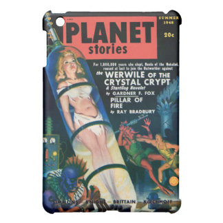 PLANET STORIES-VINTAGE PULP MAGAZINE COVER iPad MINI CASES
