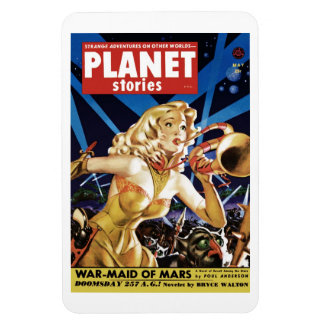 Planet Stories - Warmaid of Mars  Magnet