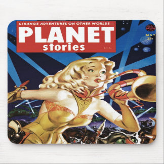 Planet Stories - Warmaid of Mars Mousepad