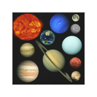 Planet the solar system canvas print
