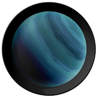 PLANET URANUS natural (solar system) ~~ Dinner Plate