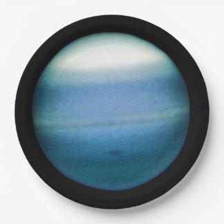 PLANET URANUS natural (solar system) ~ 9 Inch Paper Plate