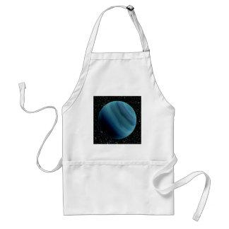 PLANET URANUS star background (solar system) ~~ Adult Apron