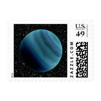 PLANET URANUS star background (solar system) ~~.jp Postage