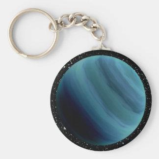 PLANET URANUS star background (solar system) ~~ Keychain