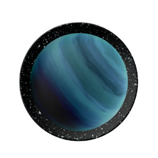 PLANET URANUS star background (solar system) ~~ Porcelain Plate