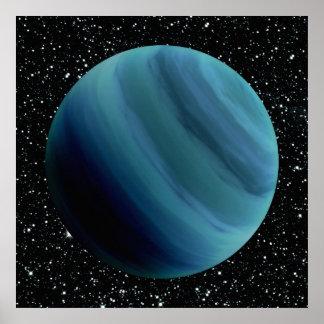 PLANET URANUS star background (solar system) ~~ Poster