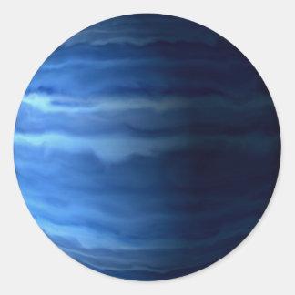 PLANET URANUS v2 (solar system) ~ Classic Round Sticker