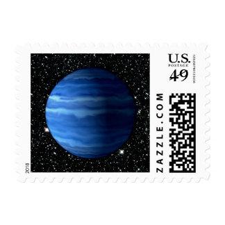 PLANET URANUS v.2 star background (solar system) ~ Postage