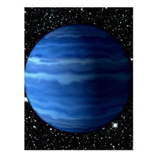 PLANET URANUS v.2 star background (solar system) ~ Postcard