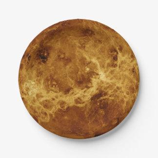 PLANET VENUS RADAR VERSION (solar system) ~ 7 Inch Paper Plate