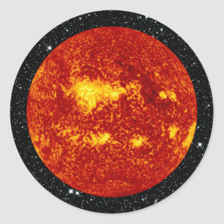 PLANET VENUS TRANSIT high definition on star back Classic Round Sticker