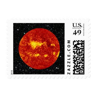 PLANET VENUS TRANSIT high definition on star back Postage
