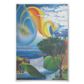 Planet  Water  -  Leomariano  artist Poster