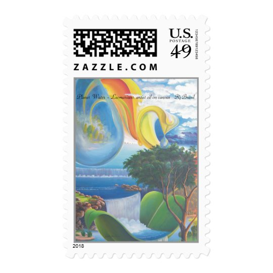 Planet  Water  -  Leomariano BRASIL Postage