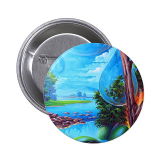 PLANET WATER - Leomariano plastic artist Button