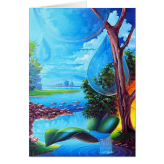 PLANET WATER - Leomariano plastic artist Greeting Card