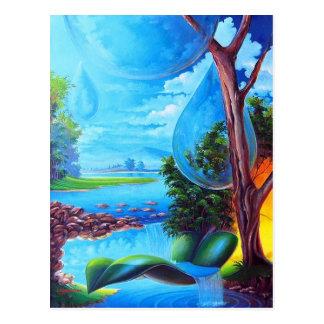 PLANET WATER - Leomariano plastic artist Postcard