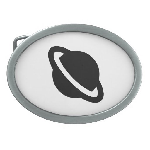 Planet with Rings Belt Buckles
